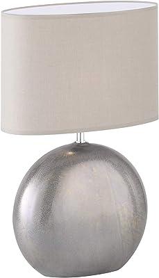 WOFI Lámpara de Mesa E14, 40 W, Plata, 24 x 17 x 37 cm