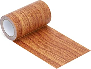 "Repair Tape Patch 2.4"" X15' Wood Textured Adhesive for Door Floor Table and Chair(Red Oak)"