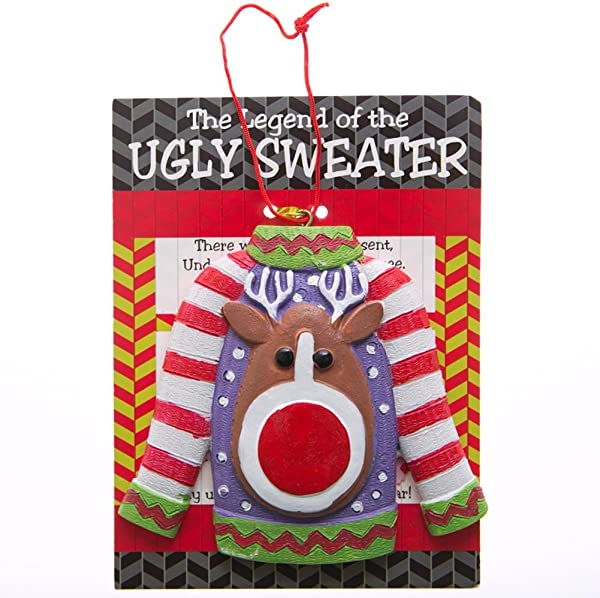The Legend Of The Ugly Sweater Ornaments 12 Count