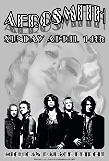 Aerosmith Michigan Palace Detroit Poster 1974 13 x 19 inch Size. Aerosmith is an American Rock Band, Sometimes referred to as The Bad Boys from Boston