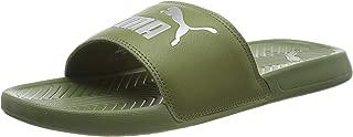 PUMA Men's Popcat Slide Sandal, Olivine Silver