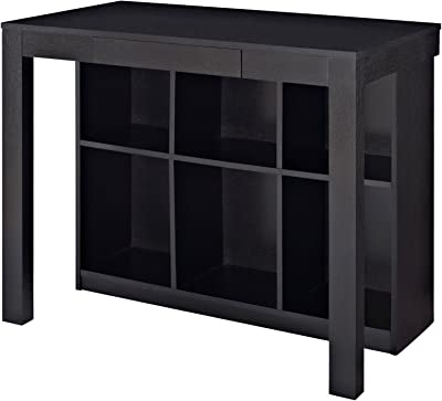amazon com wood desk with shelves rectangular writing desk with rh amazon com Altra Deluxe Parsons Desk Altra Parsons Desk