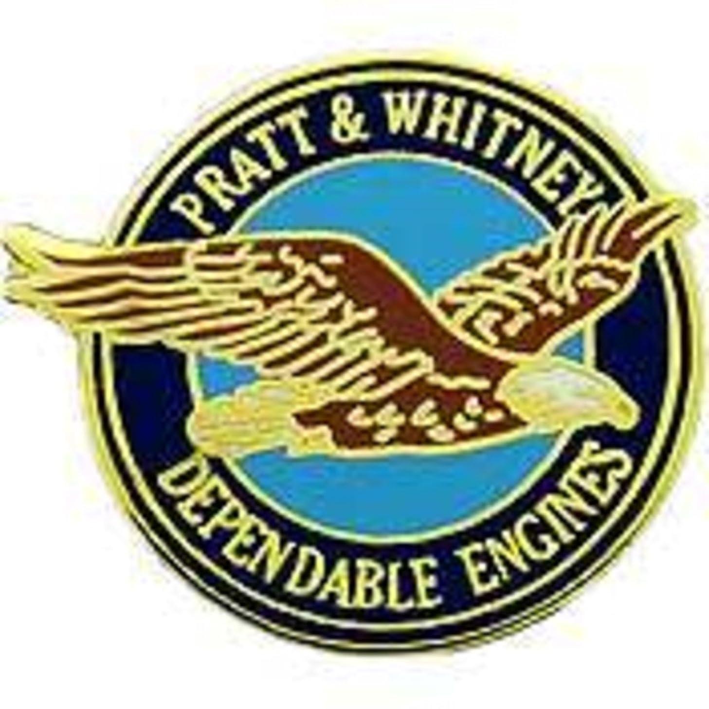 EagleEmblems P05285 PIN-APL,Pratt & Whitney (Logo) (1'')