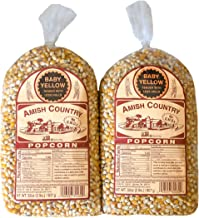product image for Amish Country Popcorn | 2 - 2 lb Bags | Baby Yellow Popcorn Kernels | Old Fashioned with Recipe Guide (2 - 2 lb Bags)