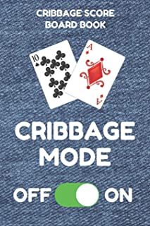 Cribbage Score Board Book: Scorebook of 100 Score Keeper Sheet Pages For Cribbage Games, Convenient 6 By 9 Inches, Funny Mode Denim Cover