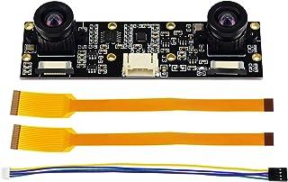 Waveshare IMX219-83 Stereo Binocular Camera 8MP Dual IMX219 Camera Module, 32802464 Resolution,Support Jetson Nano Developer Kit B01, Raspberry Pi CM3/CM3+ Expansion Board,for AI Vision Application