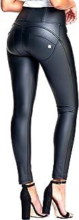 美尻効果バツグン!!High Waist Full Length WR.UP Faux Leather - Black(限定モデル)
