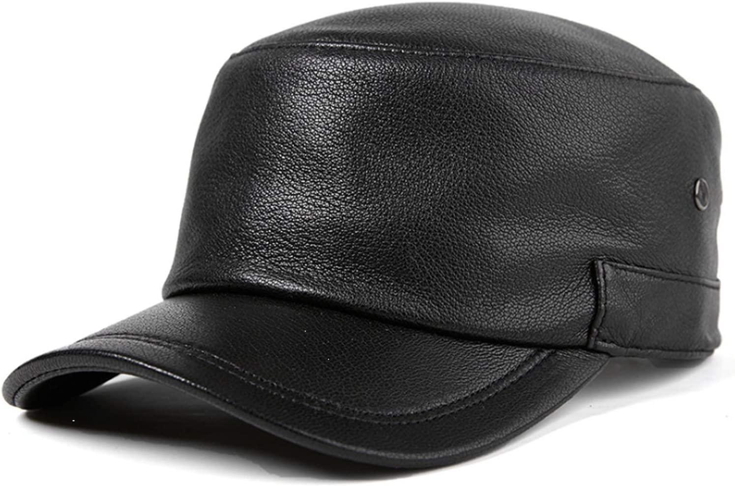 Men Hat Denver Mall leather man and woman autumn winter flat to baseball cap Easy-to-use