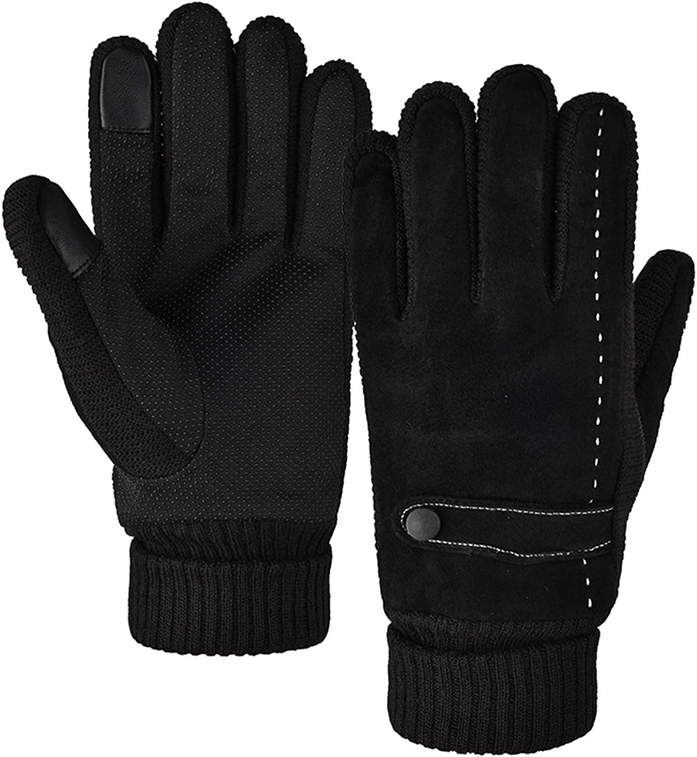 Alueery Adult Touch Screen Snow Gloves Windproof Warm Cold And Velvet Sports Riding Skating Skiing Glove