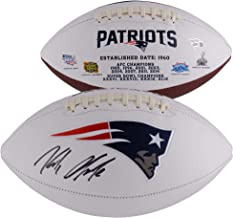 Rob Gronkowski New England Patriots Autographed White Panel Football - Fanatics Authentic Certified - Autographed Footballs