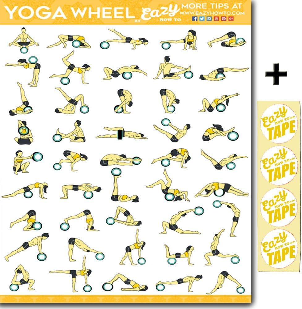 "Eazy How To Poster ""Yoga Wheel"", 50 cm x 50 cm, Grafik für ..."
