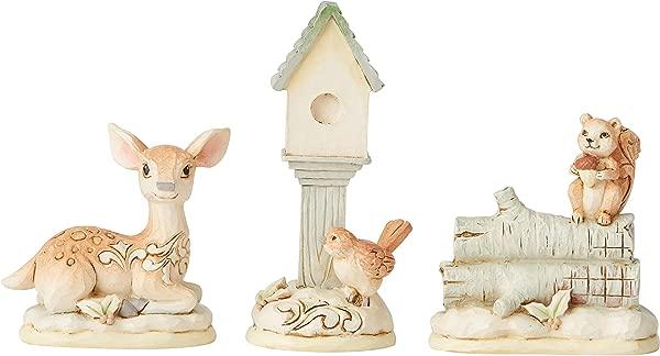 Enesco Jim Shore Heartwood Creek Woodland Mini Animal 3 Piece Set