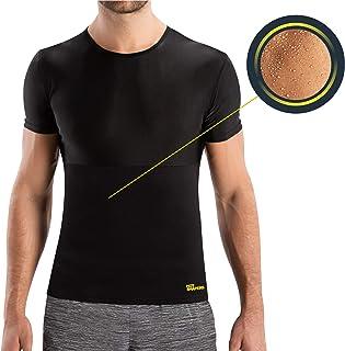 HOT SHAPERS Cami Hot para Hombre - Camiseta Térmica Reductora para un Abdomen Marcado