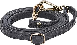 VanEnjoy Full Grain Leather Adjustable Replacement Strap Cross Body Bag Purse, 26-51 inch Gold Hardware 1.2 CM Width