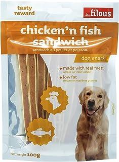 LES FILOUS Chicken Fish Sandwich, orange, 100 gm