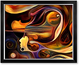 DECORARTS - Abstract Art(Inner Melody Series), Giclee Prints Abstract Modern Canvas Wall Art for Wall Decor. 30x24, Framed Size: 33x27