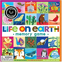eeBoo Life on Earth Memory Matching Game for Kids