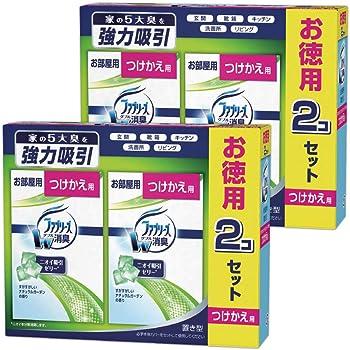 【まとめ買い】ファブリーズ 消臭芳香剤 お部屋用 置き型 すがすがしいナチュラルガーデンの香り つけかえ用 130g×4個
