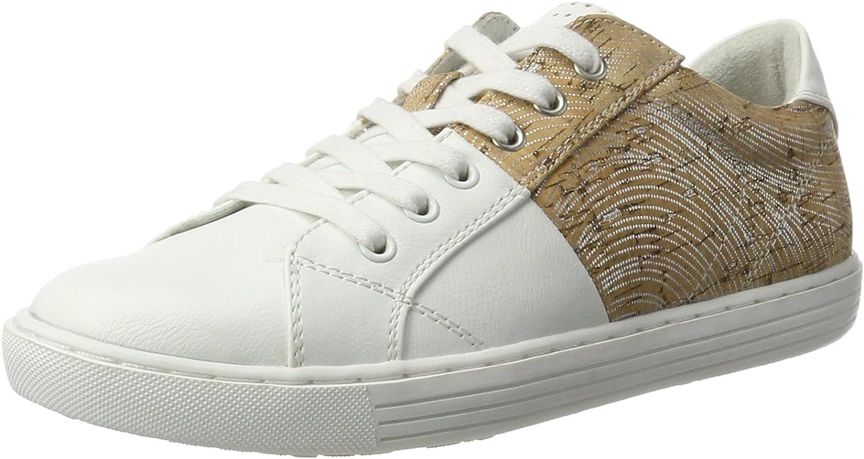 Marco Tozzi Woherrar 23605 Low Low Low -Top skor, vit  silver  äkta