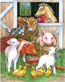 Bits and Pieces - 200 Piece Jigsaw Puzzle for Adults - Barnyard Buddies - 200 pc Farm Animals Jigsaw by Artist Lorraine Ryan