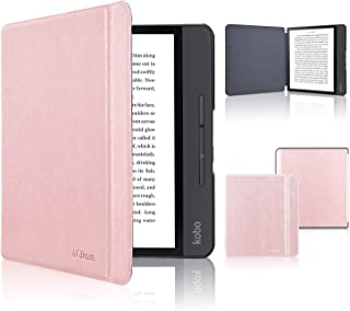 Kobo Forma Case, ACdream The Thinnest and Lightest Leather Smart Cover Case for New Kobo Forma Ereader with Auto Wake Sleep Feature, Rose Gold