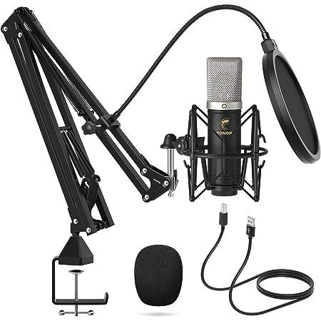 Micrófono de Condensador, TONOR USB Cardioide Micro con ¡Ratio de Muestreo 192 kHz/24 Bit Streaming, Grabación, Gaming, Podcasts, Voz, YouTube