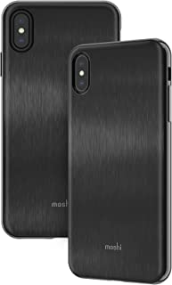 Moshi iGlaze Stylish Slim case Fit Lightweight Snap-On Hybrid Drop Protection for iPhone Xs Max - Black
