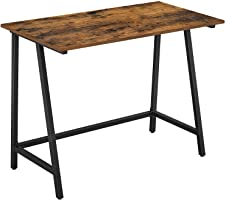 مكتب كمبيوتر VASAGLE، مكتب الكتابة مع إطار فولاذي، قمة ريفية، طاولة العمل للمكتب والدراسة المنزلية، سهلة التجميع، 100 ×...