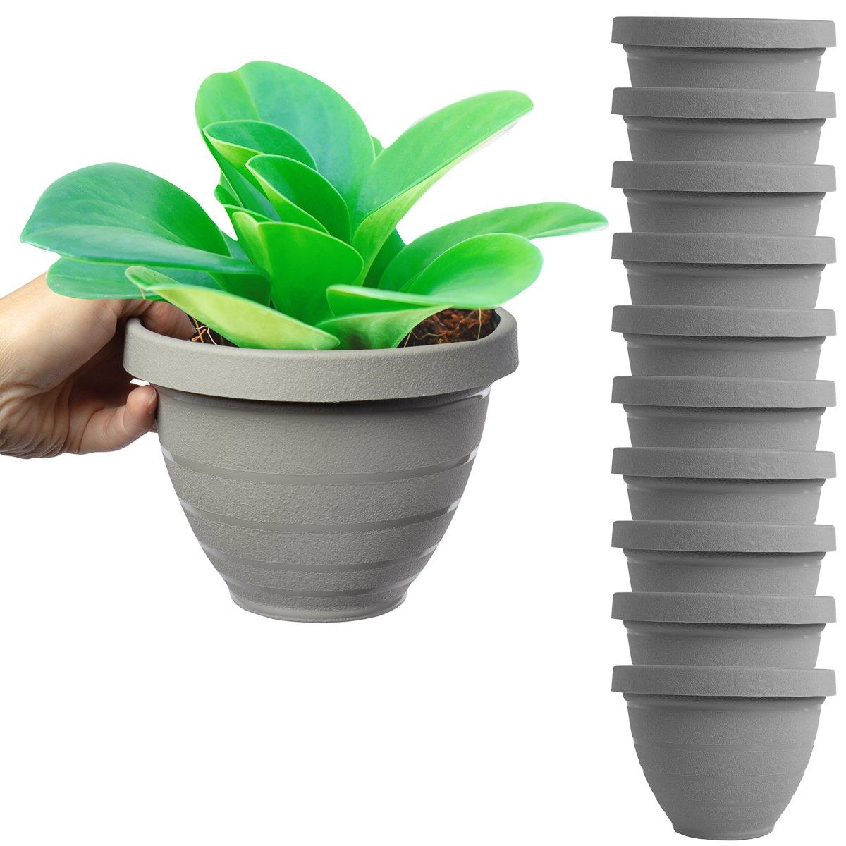 HC Companies - Macetas de riego automático para plantas de interior, jardín, casa de jardín, plantas vivas, 15 cm: Amazon.es: Jardín