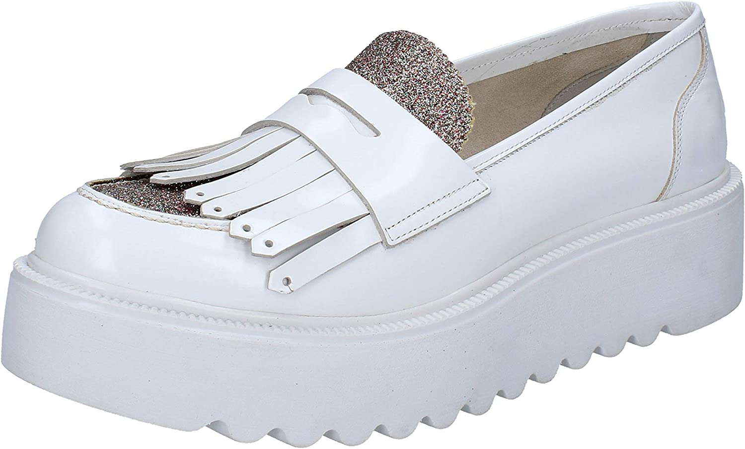 VSL Loafers-shoes Womens Leather White