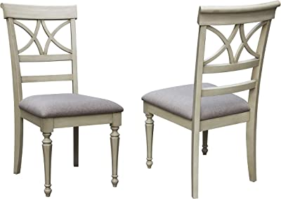 Sunset Trading Shades of Sand Dining Chair, Antique White