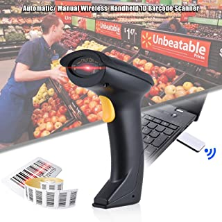 Automatic/Manual 2.4G Wireless Handheld 1D Barcode Scanner Reader Supports Reverse Type Bar Code Scanning with USB Receive...