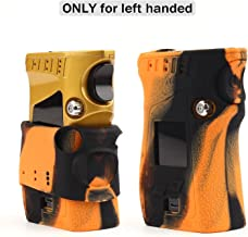 CEOKS for Smok MAG 225W Silicone Protective Case Skin Cover for Smok MAG 225W TC Left Handed eidition Accessories Wrap Sleeve Gel (Orange/Black)