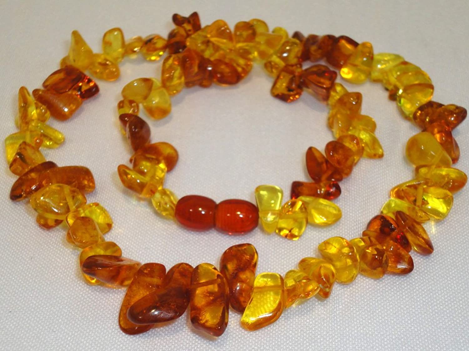 Beautiful Natural Polished Old 100% Baltic Amber Necklace 17gr  Genuine (49)