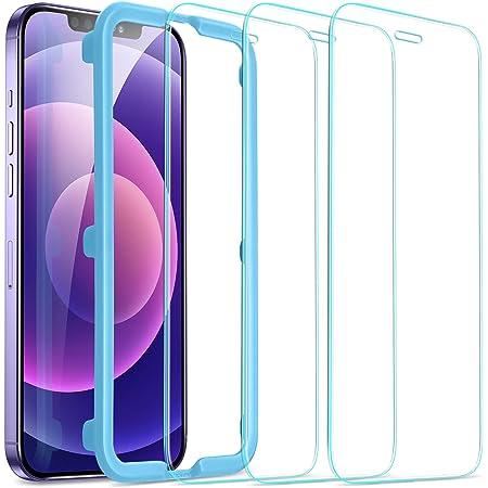 """ESR 3 Unidades, Protector de Pantalla Compatible con iPhone 12/12 Pro(6.1""""), HD Cristal Vidrio Templado, Anti-arañazos y Anti-Huellas, Sin Burbujas"""