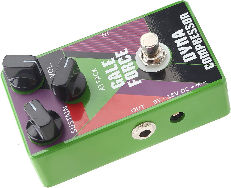 Pedales de guitarra, pedal de compresor de guitarra ajustable universal, multiefectos para todos los instrumentos para guitarra y bajo