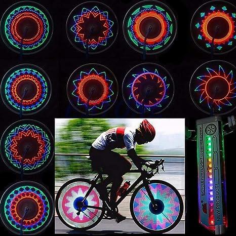 Bicycle Bike Tyre Tire Wheel Lights 16 LED Flashing Spoke Lamp Warning Cycling