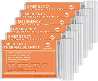 ANMEILU Emergency Mylar Thermal Blankets - 4 Packs or 6 Packs Space Blanket Survival kit Camping Blanket. Perfect for Outd...