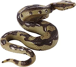 STOBOK Snake Toy Rubber Snake Python Model Toy Scary Prank Toy Perfect for Halloween Decorations