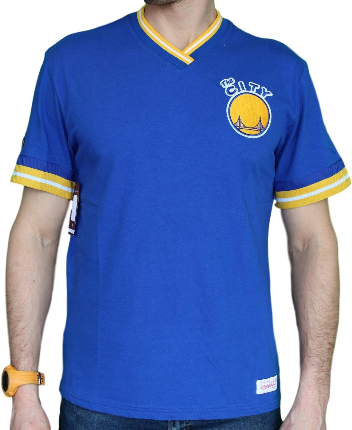 Mitchell Ness Golden State Warriors Vintage T- NBA Win Premium Manufacturer Free shipping / New OFFicial shop