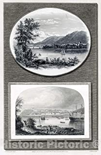 Historic Pictoric Print - Ruins of Fort Ticonderoga, Lake Champlain ; Quebec in 1775. - Vintage Wall Art - 30in x 44in