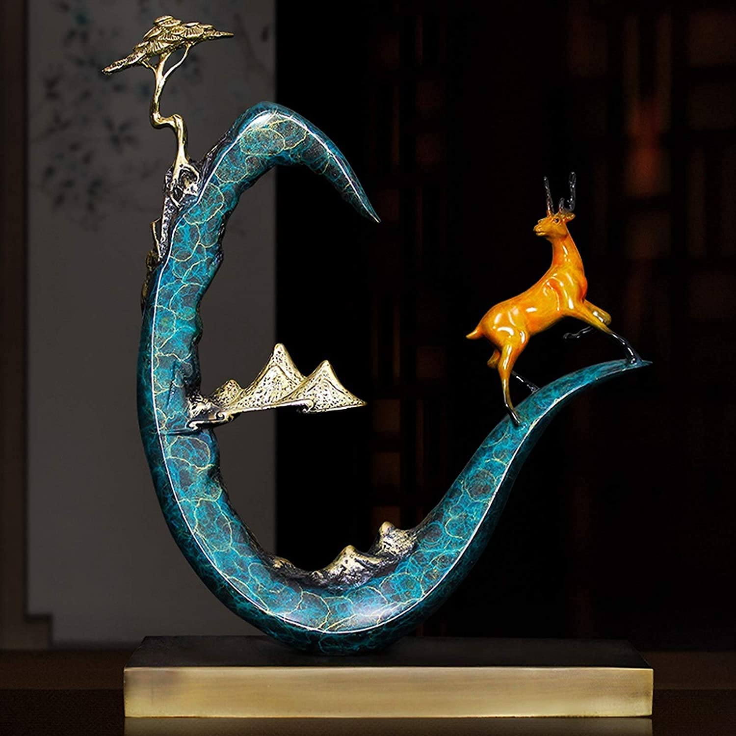 Great interest TEAYASON Sculptures Statues Creative New Copper Chinese Pure Sik Indianapolis Mall