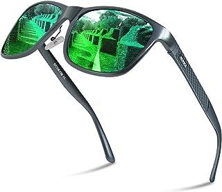 偏光サングラス 偏光レンズ[金属フレーム/超軽量/UV400紫外線/男女通用/耐衝撃/落下防止/専用ケース付属/お洒落]サングラス 反射光、眩しい光などがカットでき、釣り ドライブアウトドア 登山 自転車 ゴルフ 運転 スポーツサングラス
