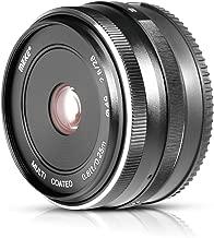 MEKE Meike MK 28mm f/2.8 Fixed Manual Focus Lens for Sony E Mount Mirrorless Camera A7III A9 NEX 3 3N 5 NEX 5T NEX 5R NEX 6 7 A6400 A5000 A5100 A6000 A6100 A6300 A6500