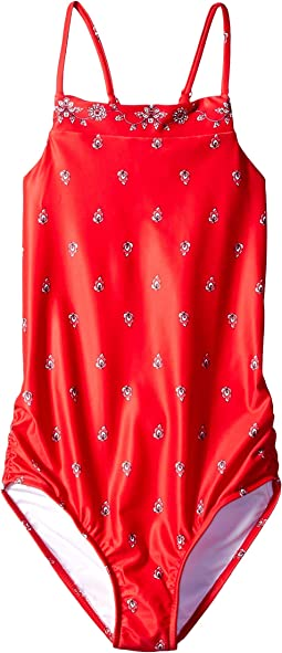 Bandanna Tank One-Piece (Big Kids)