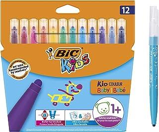 comprar comparacion BIC Kids Kid Couleur Baby Rotuladores Punta Extra Ancha - Colores surtidos, Blíster de 12 Unidades – rotuladores lavables ...