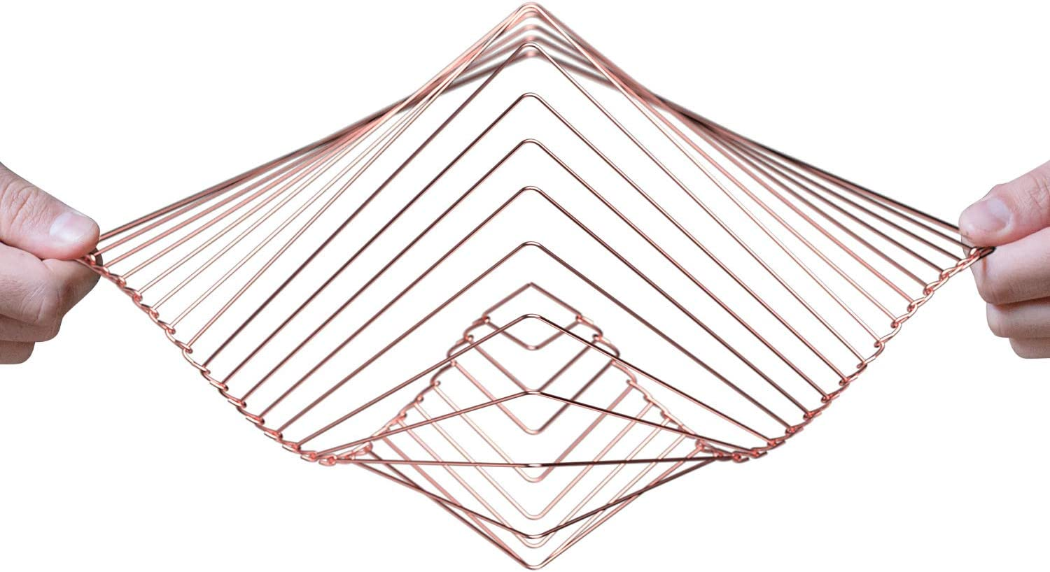 Atellani Square Wave | The Mesmerizing Kinetic Wind Spinner | Magical Calming Art Piece by Ivan Black (Copper)