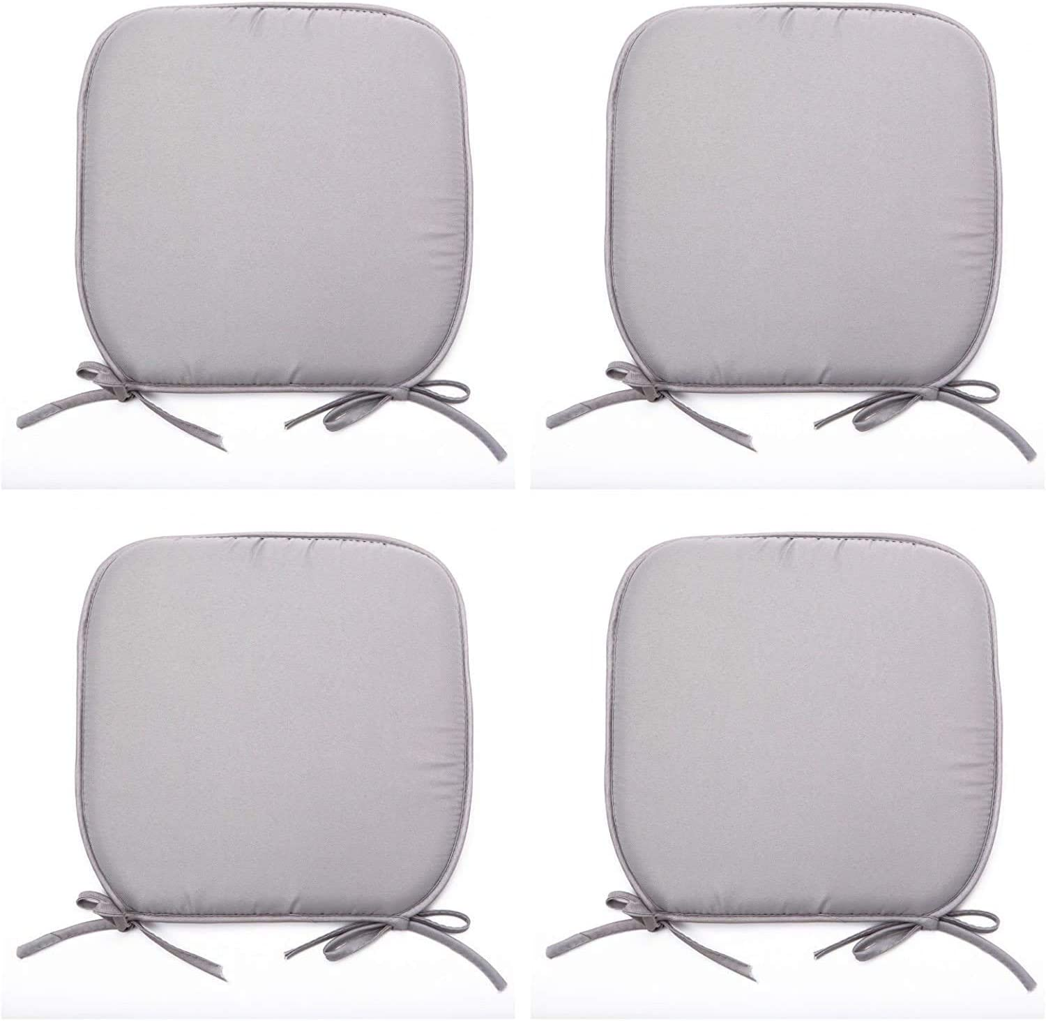 LB Garden BLUE, PACK OF 2 Dining Chair Foam Cushions Tie On Seat Pads in set of 2,4,6 or 8