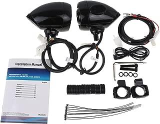 Rebacker Motorcycle Audio Stereo Amplifier Speaker Hi-Fi Sound MP3/WMA Bluetooth USB/AUX Phone Charge MT485,Black 7/8