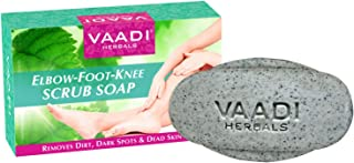 Vaadi Herbals Elbow Foot Knee Scrub Soap with Almond and Walnut Scrub, 75g